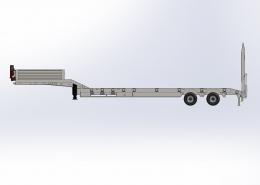 2 Axle Lowbed Semi Trailer