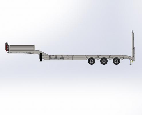 3 Axle Lowbed Semi Trailer