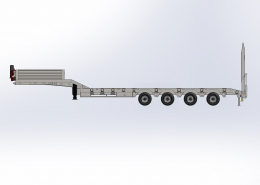 4 Axle Lowbed Semi Trailer