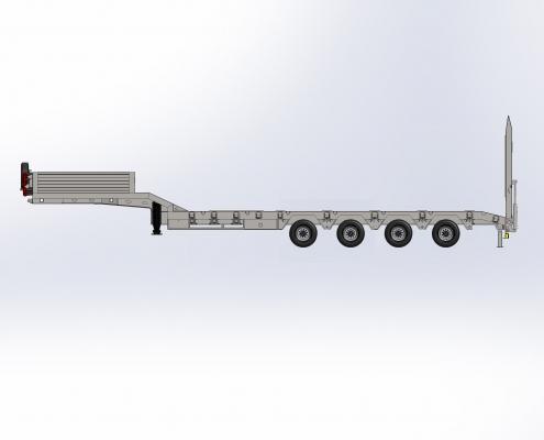 4 Axle Lowbed Semi Trailer