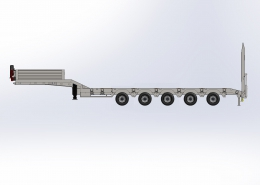 5 Axle Lowbed Semi Trailer