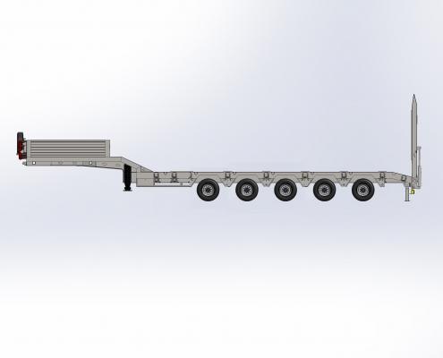 5 Axle Lowbed Semi Trailer