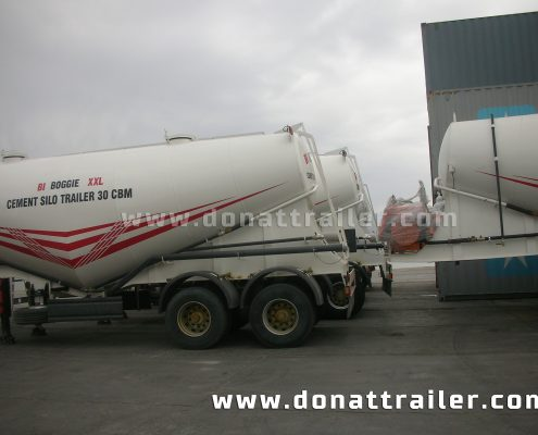 Cement Trailer in the Port