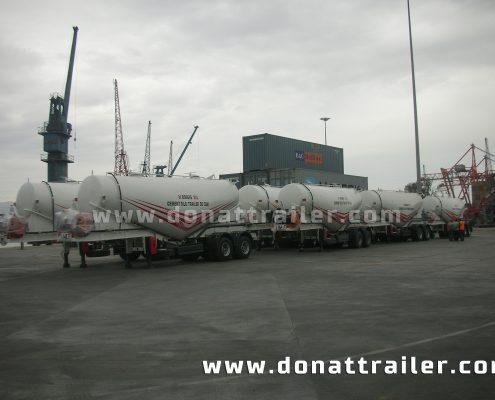 Cement Trailer boggie axle shipment