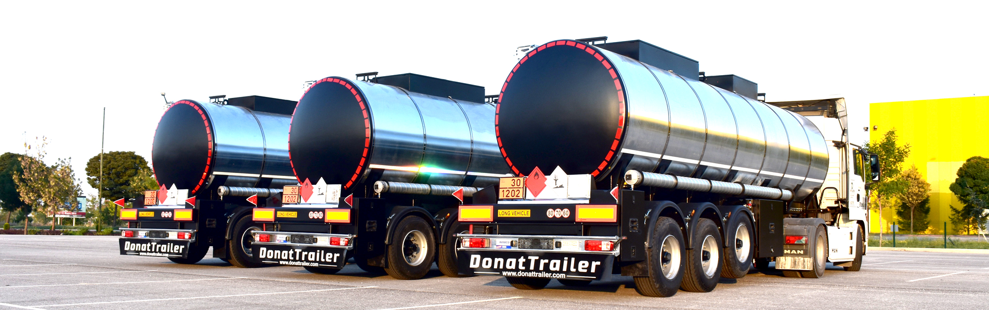 isolated tank semi trailer