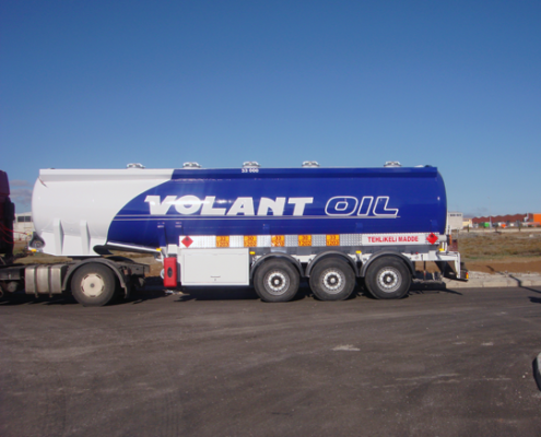 Tanker Trailer Blue colour